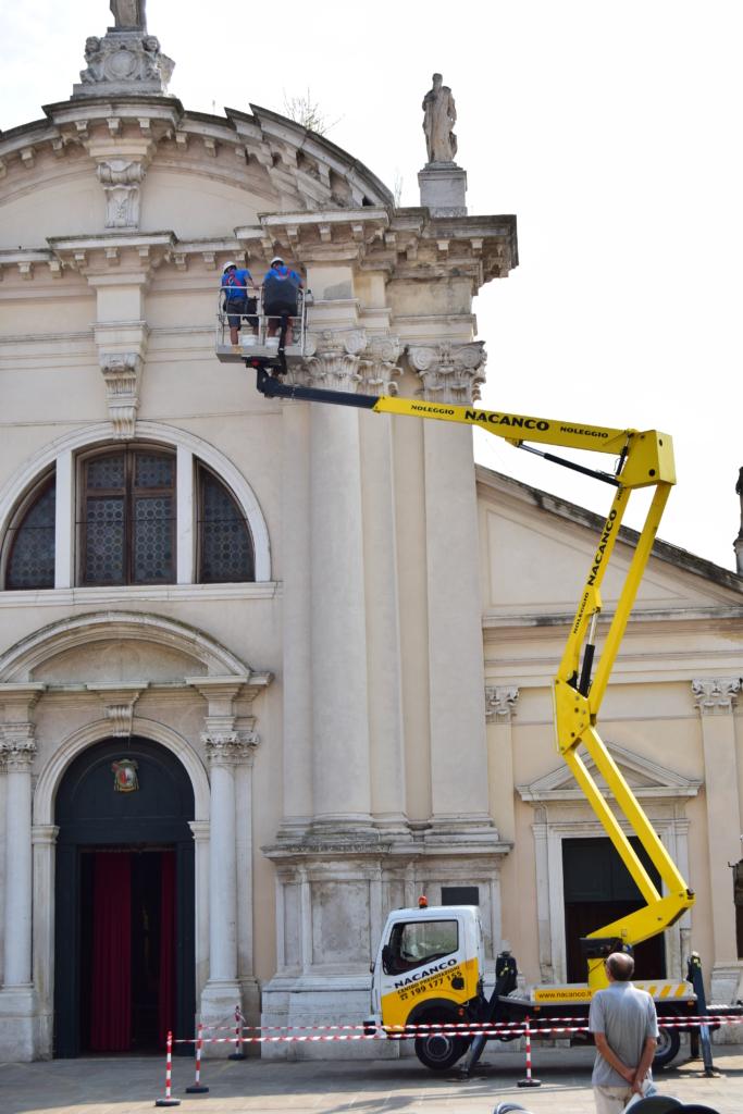Chioggia Altstadt Zentrum Kirche Saint Andrea Venetien Italien
