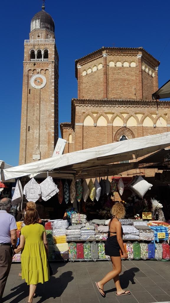 Kathedrale von Chioggia Wochenmarkt Altstadt Zentrum Corso del Poppolo Venetien Italien