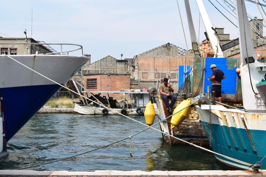 Chioggia Fischer-Hafen Lagune von Venedig Venetien Italien