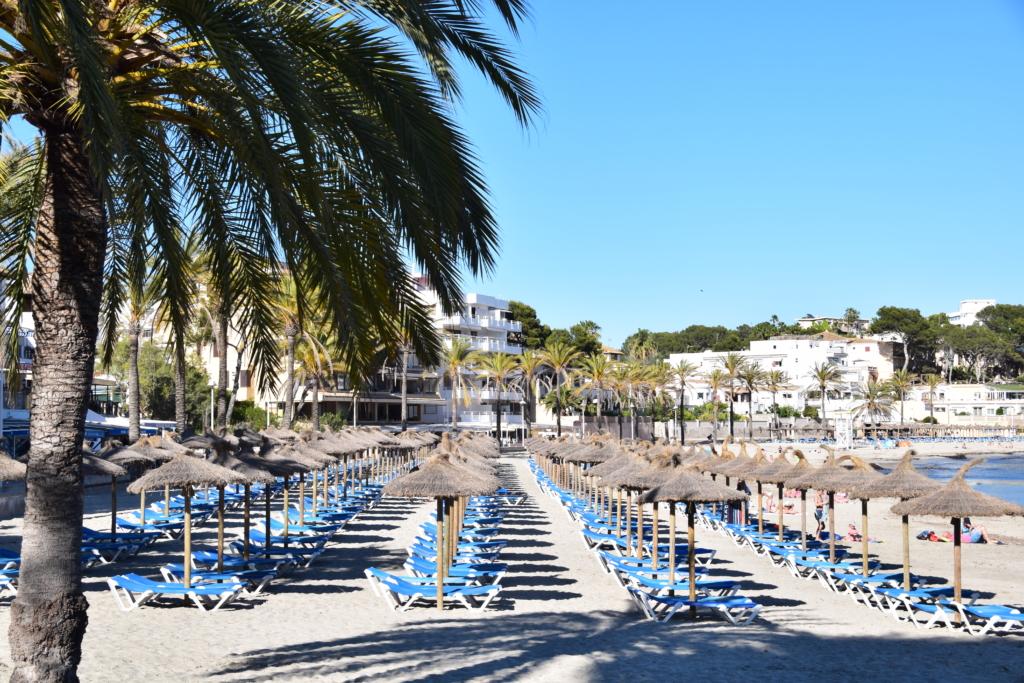 Strand Platja Palmira Paguera Peguera Mallorca Balearen Spanien
