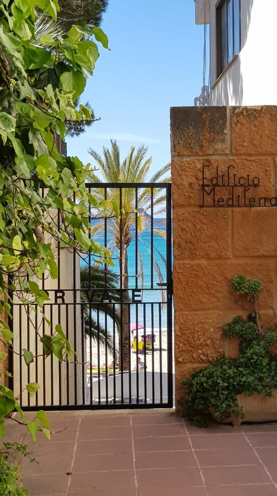Blick zum Strand Platja Palmira Peguera Paguera Mallorca-Urlaub Balearen Spanien
