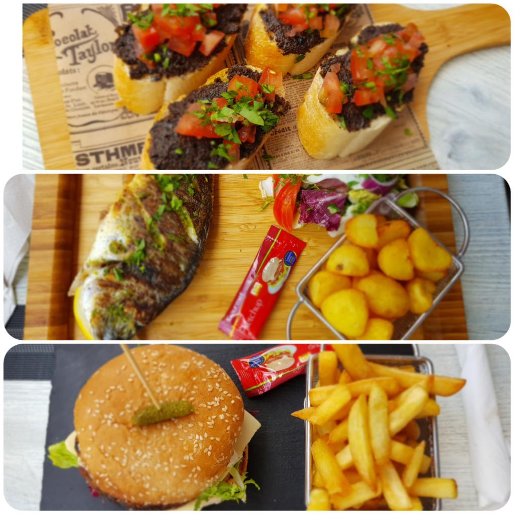 Bruschetta Fisch Burger Restaurant Bar Romantico Peguera Paguera Mallorca Balearen Spanien