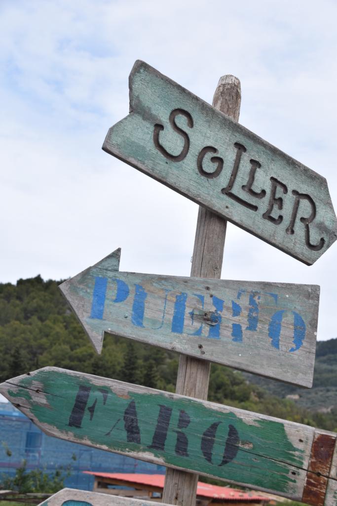 Wegweiser Wanderung nach Port de Soller Mallorca balearen spanien
