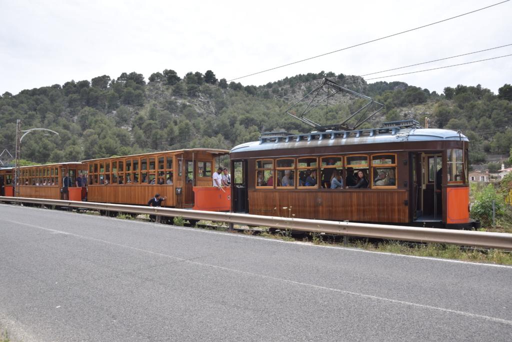 weiche tranvia strassenbahn port de soller mallorca balearen spanien