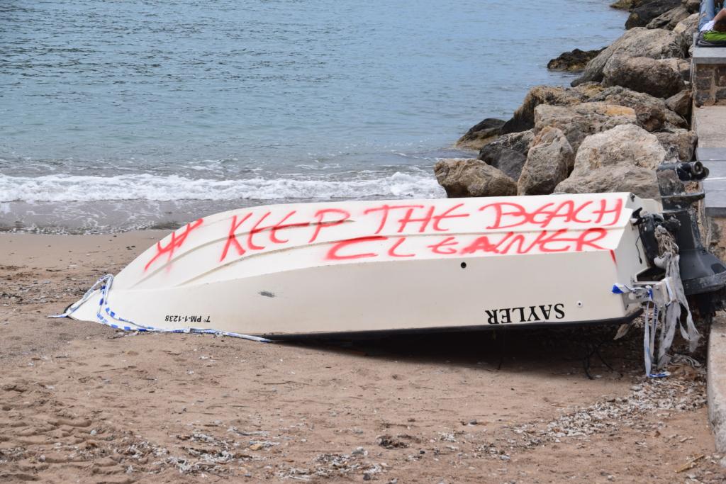 strand sauber halten port de soller mallorca balearen spanien