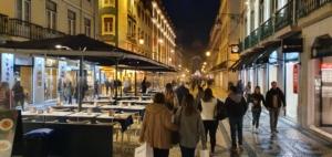 nachts rua augusta lissabon portugal aida familien kreuzfahrt 1