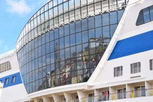 hafen aidamar spiegelung lissabon portugal aida familien kreuzfahrt