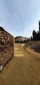 fussweg zum teatro romano de cartagena murcia spanien aida familien kreuzfahrt 1