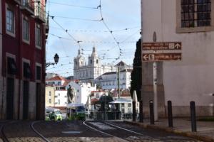 Aufgang Castelo de Sao Jorge Lissabon Portugal AIDA Kreuzfahrt