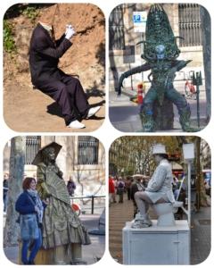 lebende statuen la rambla barcelona spanien aida familien kreuzfahrt