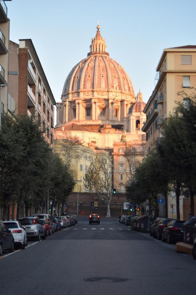spaziergang morgens vatikan rom italien