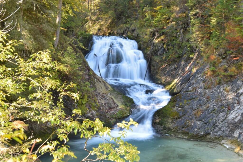 Wallpaper free schöne Hintergrundbilder kostenlos Wasserfall Alpen Bayern Deutschland