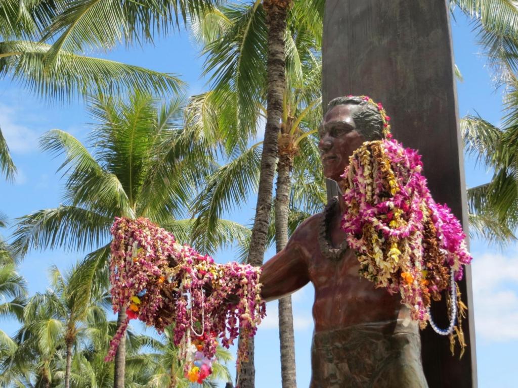 blogparade kreuzfahrt duke paoa kahanamoku waikiki beach honolulu oahu hawaii