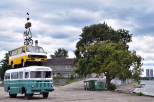 kunstwerk streetart hafen riga lettland