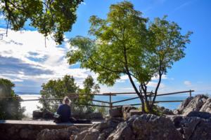 malerischer rastplatz wanderung rilkeweg klippen duino sistiana Friaul-Julisch Venetien italien