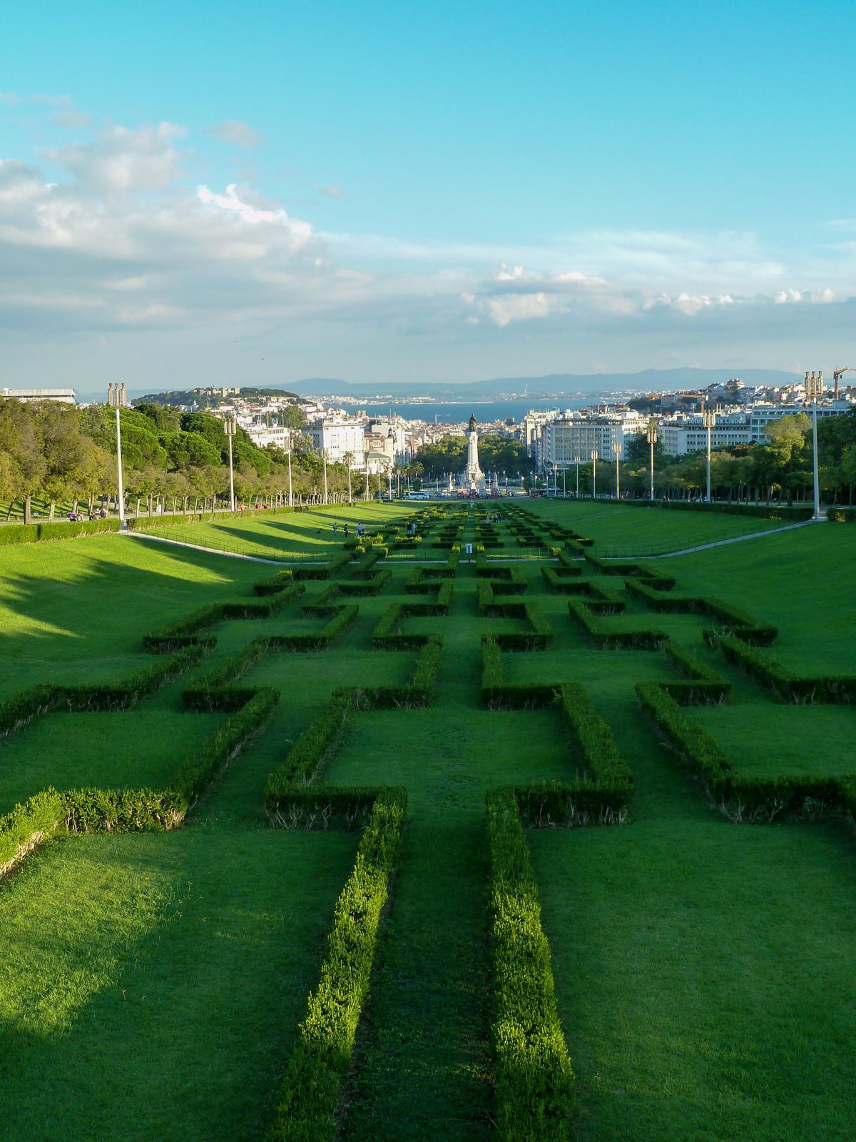 Städtereise Lissabon Sehenswürdigkeiten Aussichtspunkt Miradouro Parque Eduardo VII Portugal