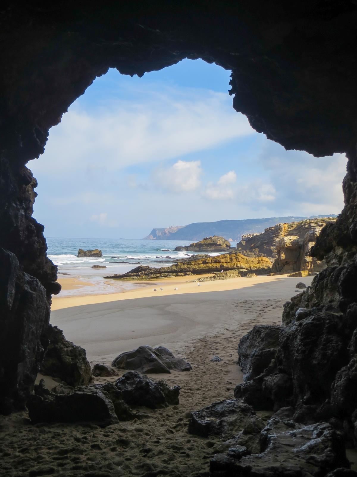 Cabo da Roca Westlichster Punkt Europa Höhle Strand Sintra Lissabon Portugal