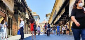 Ponte Vecchio Florenz Toskana Italien Sommer 2021 Corona