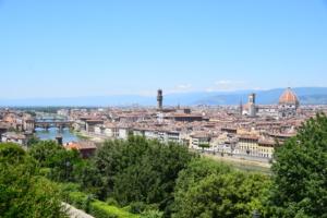 Aussicht Florenz Toskana Italien Sommer 2021 Corona