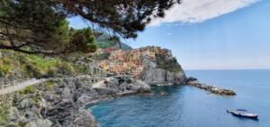 Panorama Manarola Cinque Terre Ligurien Italien Sommerurlaub 2021 Corona