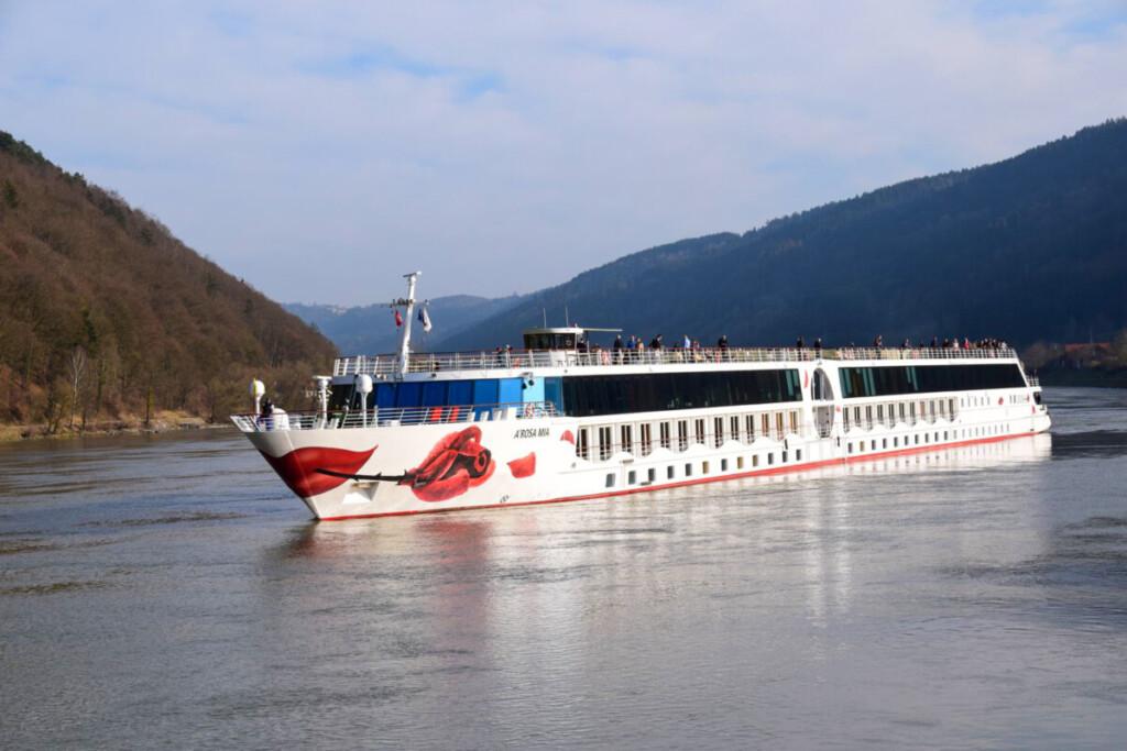 a-rosa Flusskreuzfahrt Donau Ablegen Engelhartszell Österreich