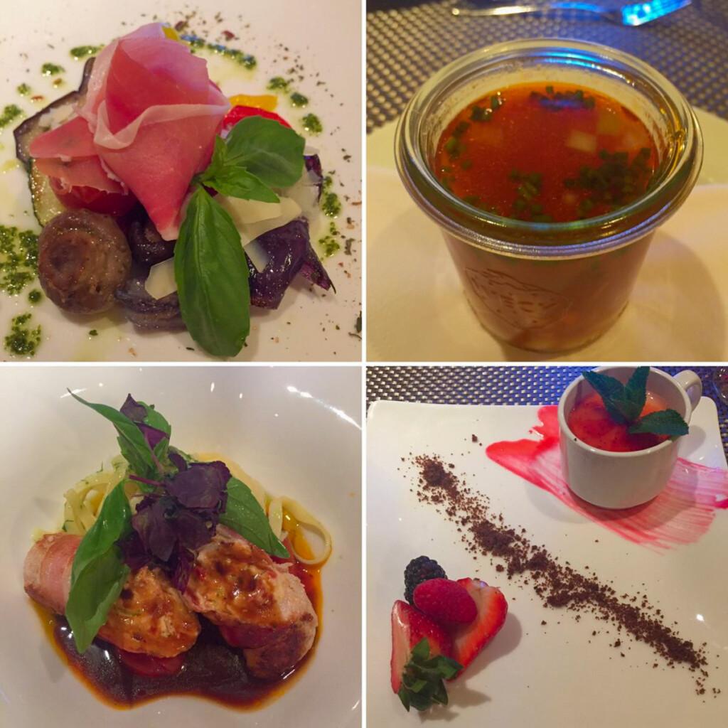 a-rosa Flusskreuzfahrt Donau Vier Gang Menü Cucina Italiana