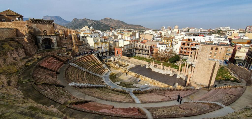 08 Kreuzfahrt Spanien Teatro Romano de Cartagena Murcia