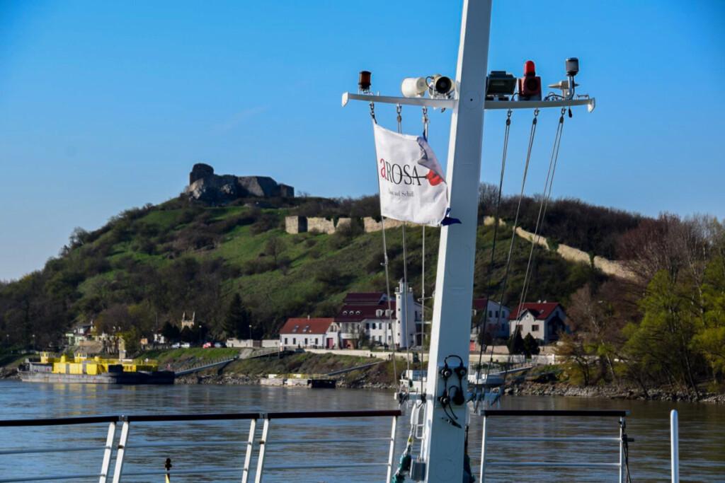 a-rosa Flusskreuzfahrt Donau Ruine Burg Devin Grenze Österreich Slowakei