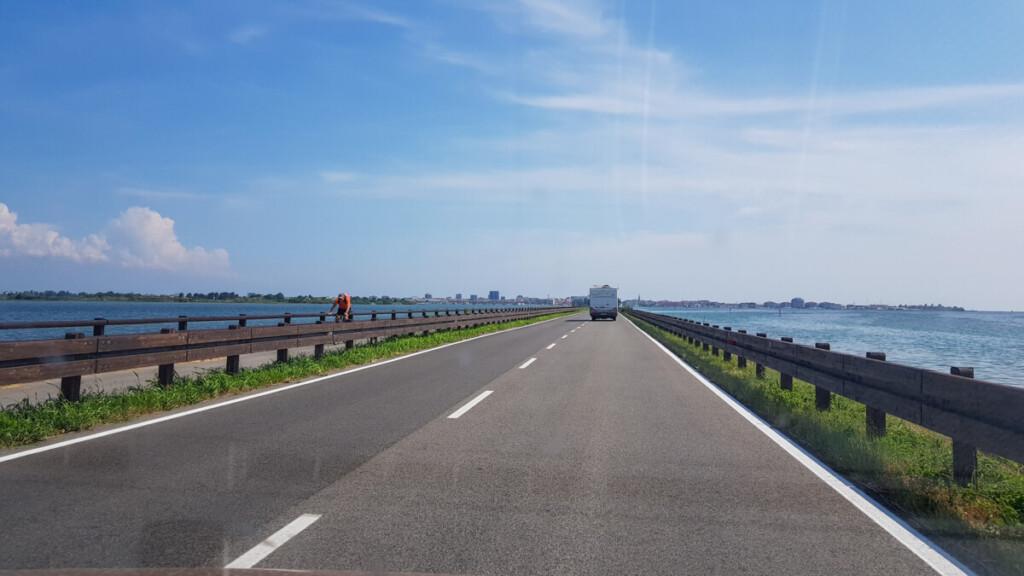 Ankunft Grado Friaul-Julisch Venetien Italien