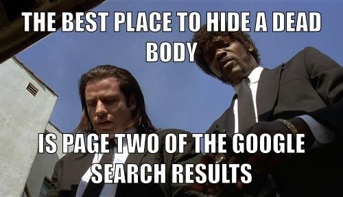 SEO Seite zwei bei Google