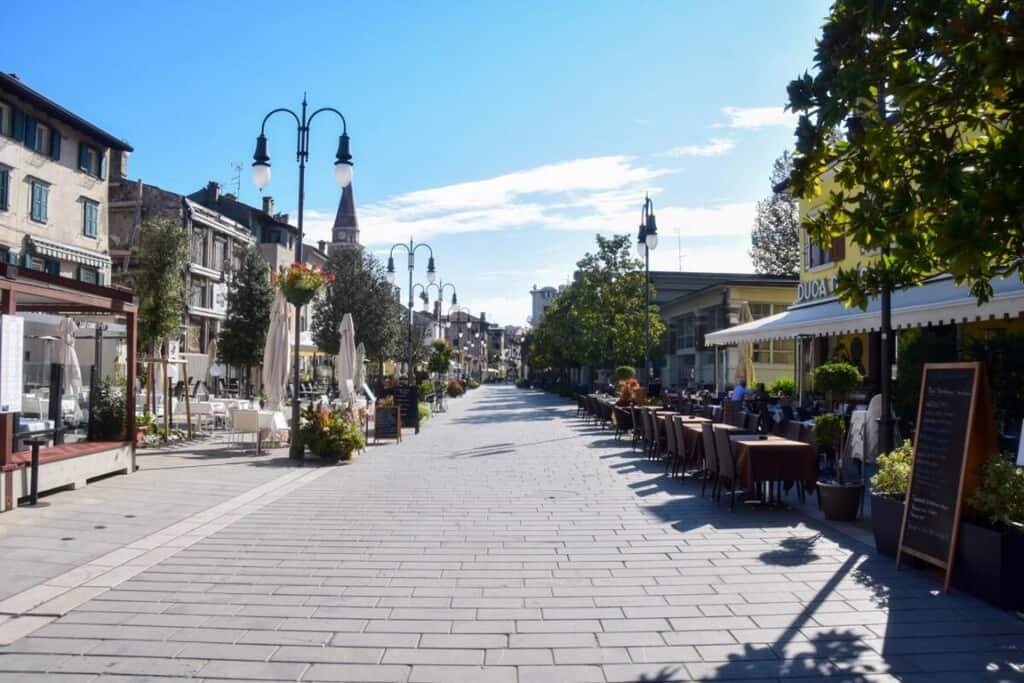 leere Piazza Duca D'Aosta Grado Friaul-Julisch Venetien Italien