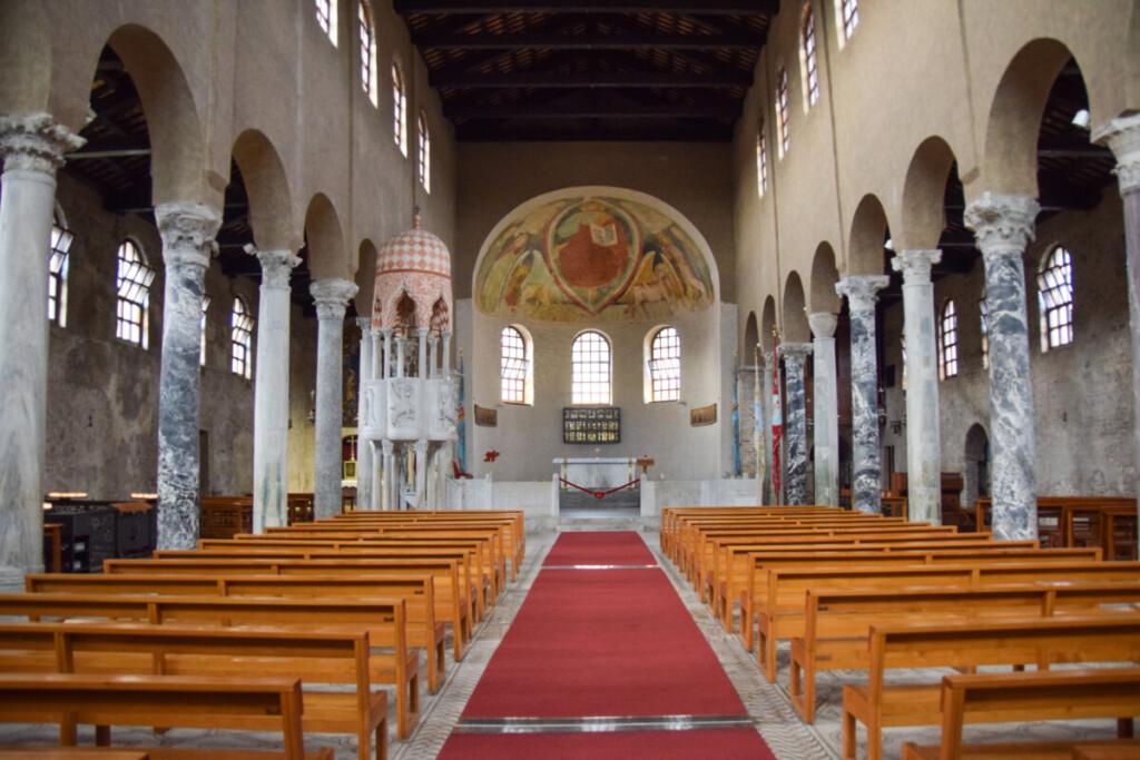 Innenraum Hauptkirche Sant'Eufemia Grado Friaul-Julisch Venetien Italien