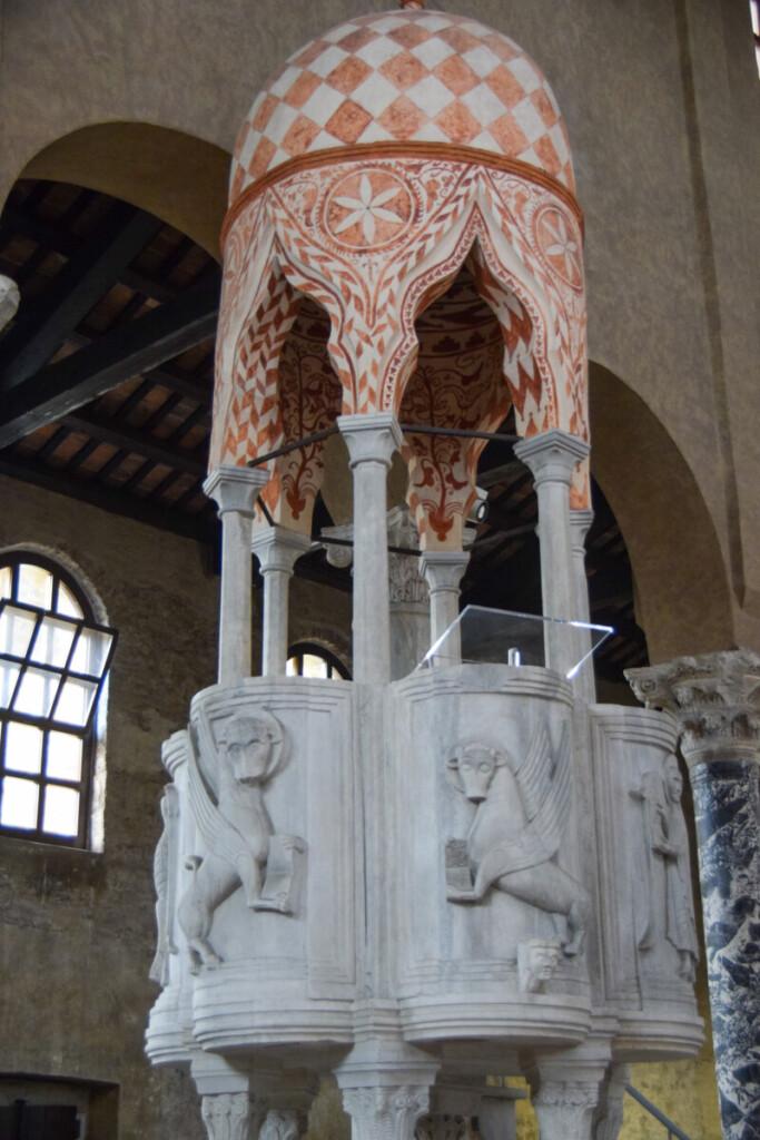 Kanzel Kirche Sant'Eufemia Grado Friaul-Julisch Venetien Italien