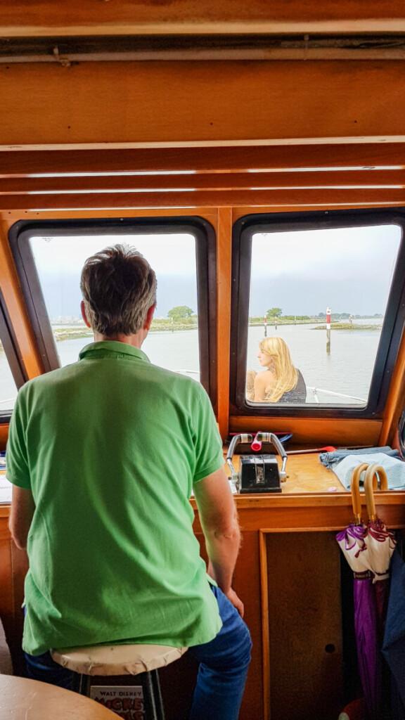Kapitän Ausflugsboot Barbana Grado Friaul-Julisch Venetien Italien