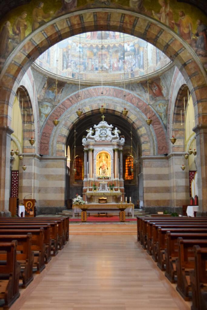 Innenraum Wallfahrtskirche Beata Vergine Maria Barbana Grado Friaul-Julisch Venetien Italien