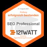 zertifizierter SEO Professional 121WATT