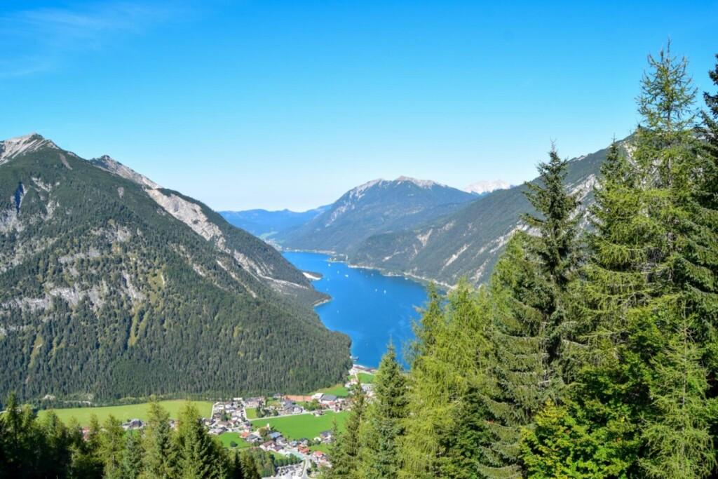 Ausblick Pertisau Wandern Karwendel Bergbahn Achensee Tirol Österreich
