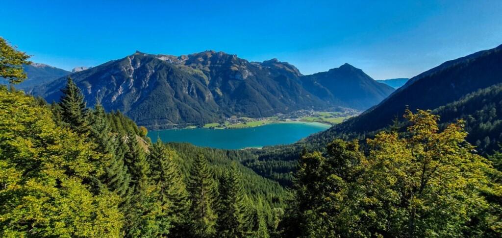 Ausblick Fotospot Zwölferkopf Rofan Wanderung Karwendel Achensee Pertisau Tirol Österreich
