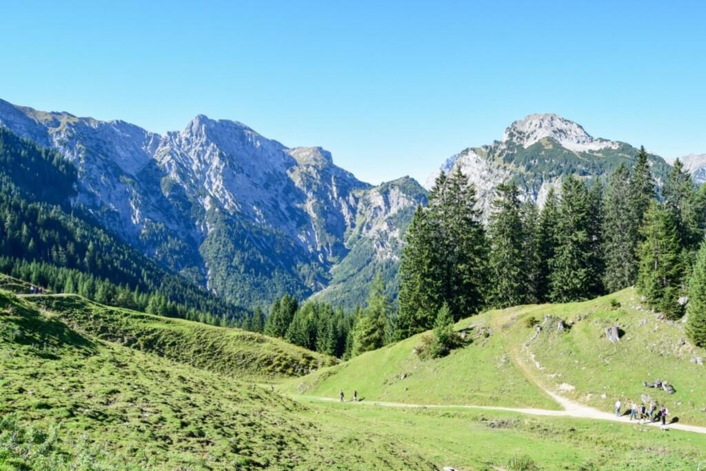 Rundwanderweg Bärenbadalm Zillergrund Karwendel Achensee wandern Pertisau Tirol Österreich