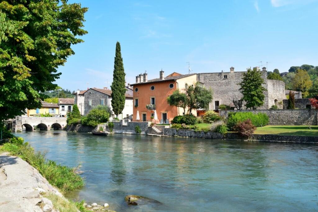 Mühlendorf Borghetto Fluss Mincio Gardasee Venetien Italien