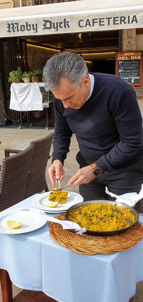 36 vegetarische Paella Restaurant Moby Dick Palma de Mallorca Balearen Spanien