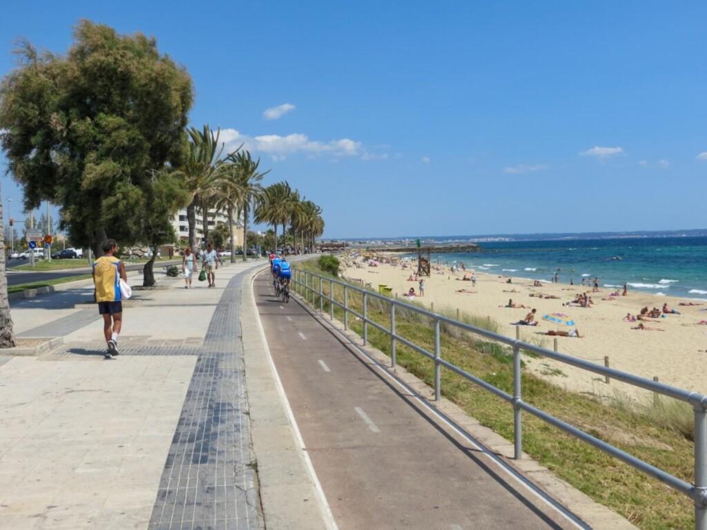 41 Strandpromenade Strand Playa de Palma de Mallorca Sehenswuerdigkeiten Balearen Spanien