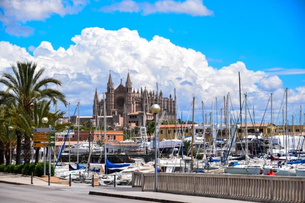 43 Yachthafen Palma Marina Port de Mallorca Sehenswuerdigkeiten Balearen Spanien